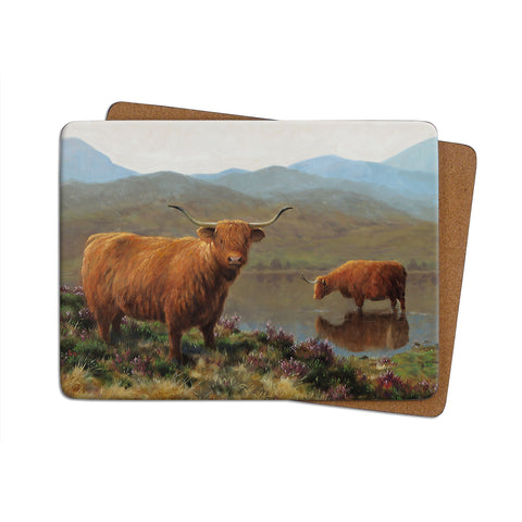 High-Quality Highland Cow Placemat