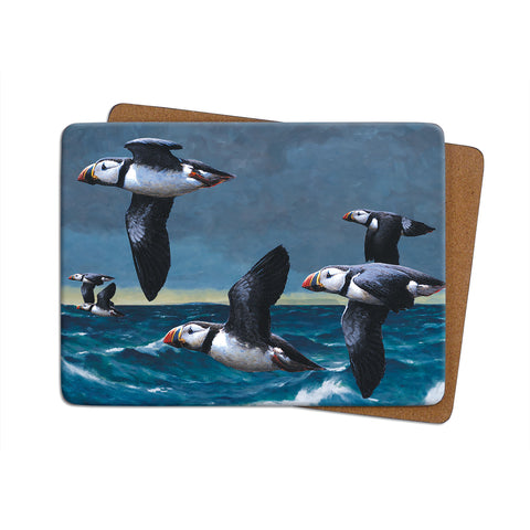High-Quality Puffins Flying Placemat