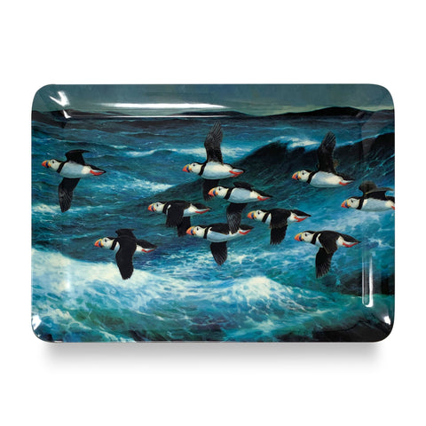 Puffins in Flight Dinner Tray