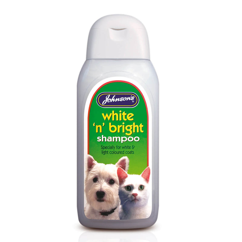 JOHNSON'S VETERINARY WHITE 'N' BRIGHT SHAMPOO