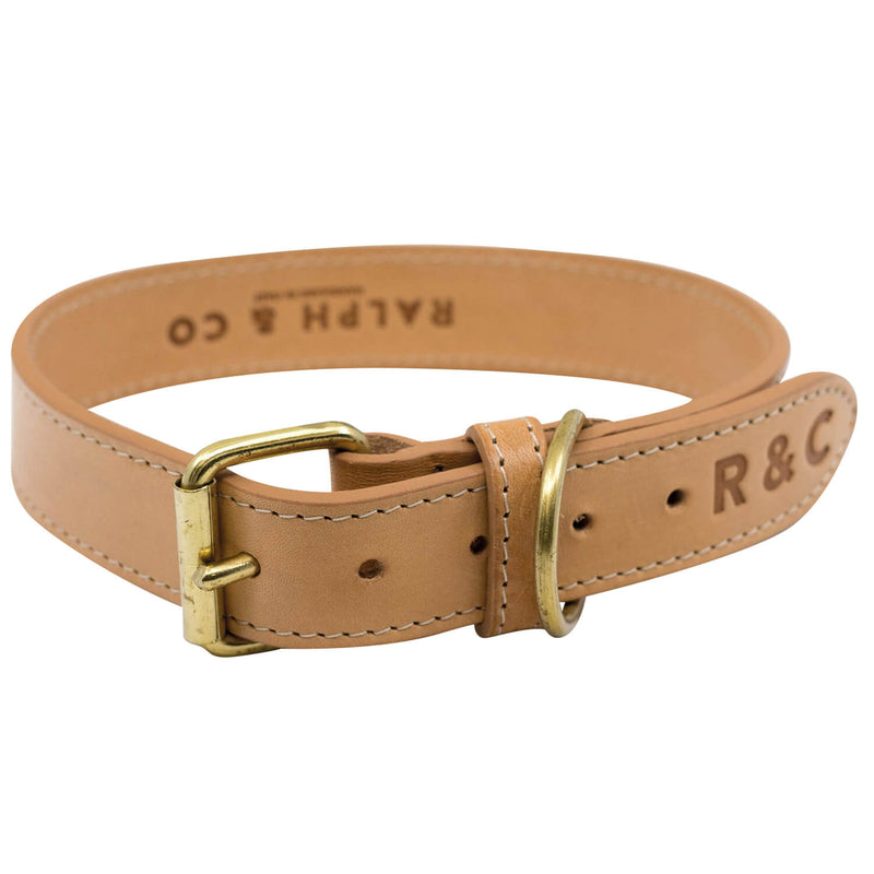 RALPH & CO DOG COLLAR DOUBLE LEATHER TRIESTE