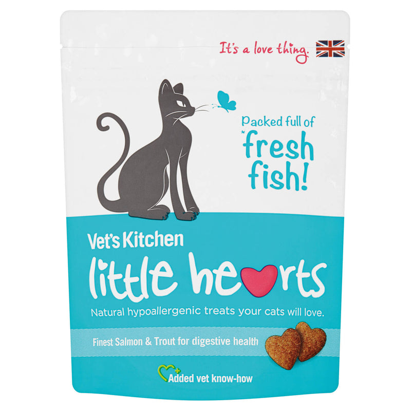 VET'S KITCHEN LITTLE HEARTS CAT TREATS SALMON
