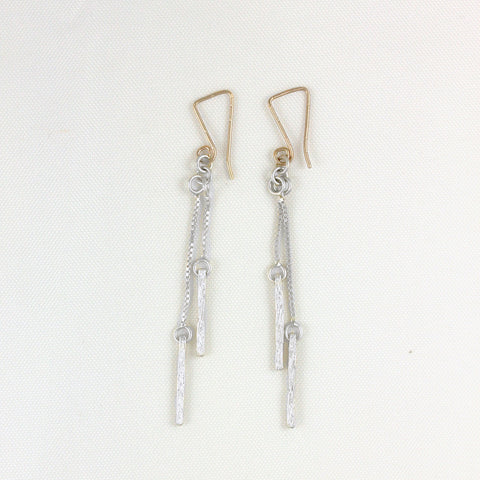 Double 1/2 Stix on Chain Earrings