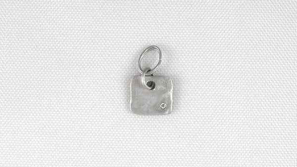Flat Solid Square Charm