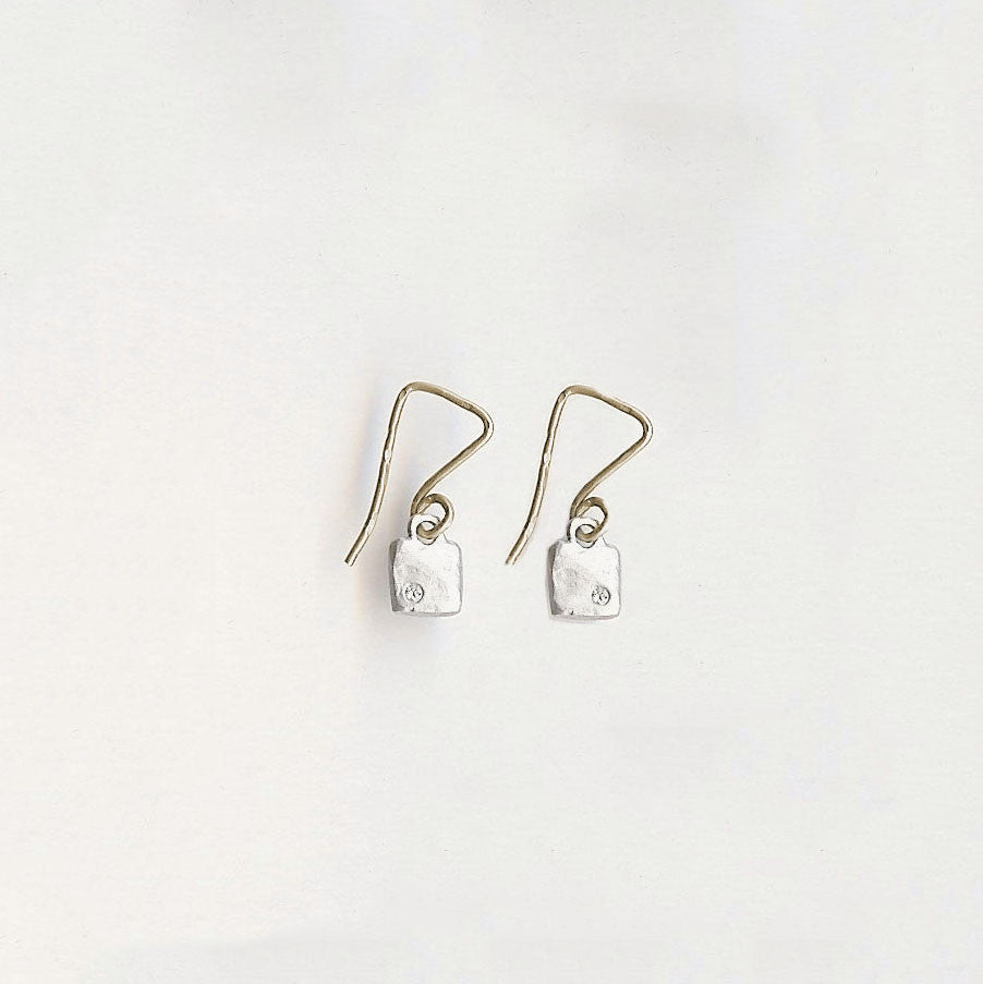 Tiny Square Earrings