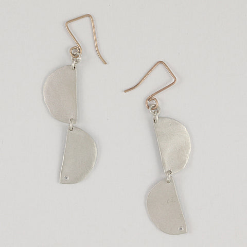 Double Luna Drop Earrings