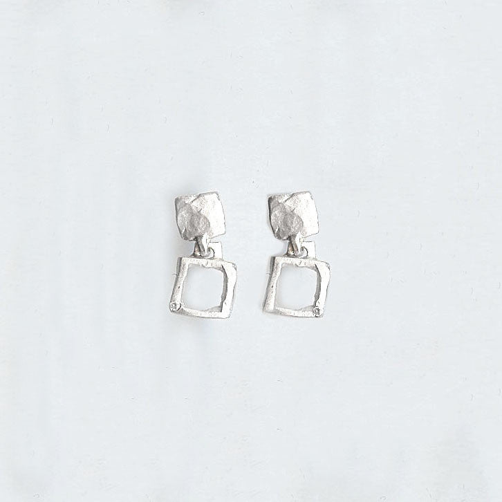 Deep Square Earrings