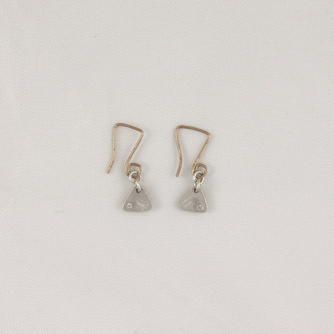 Small Flat Triangle Earrings