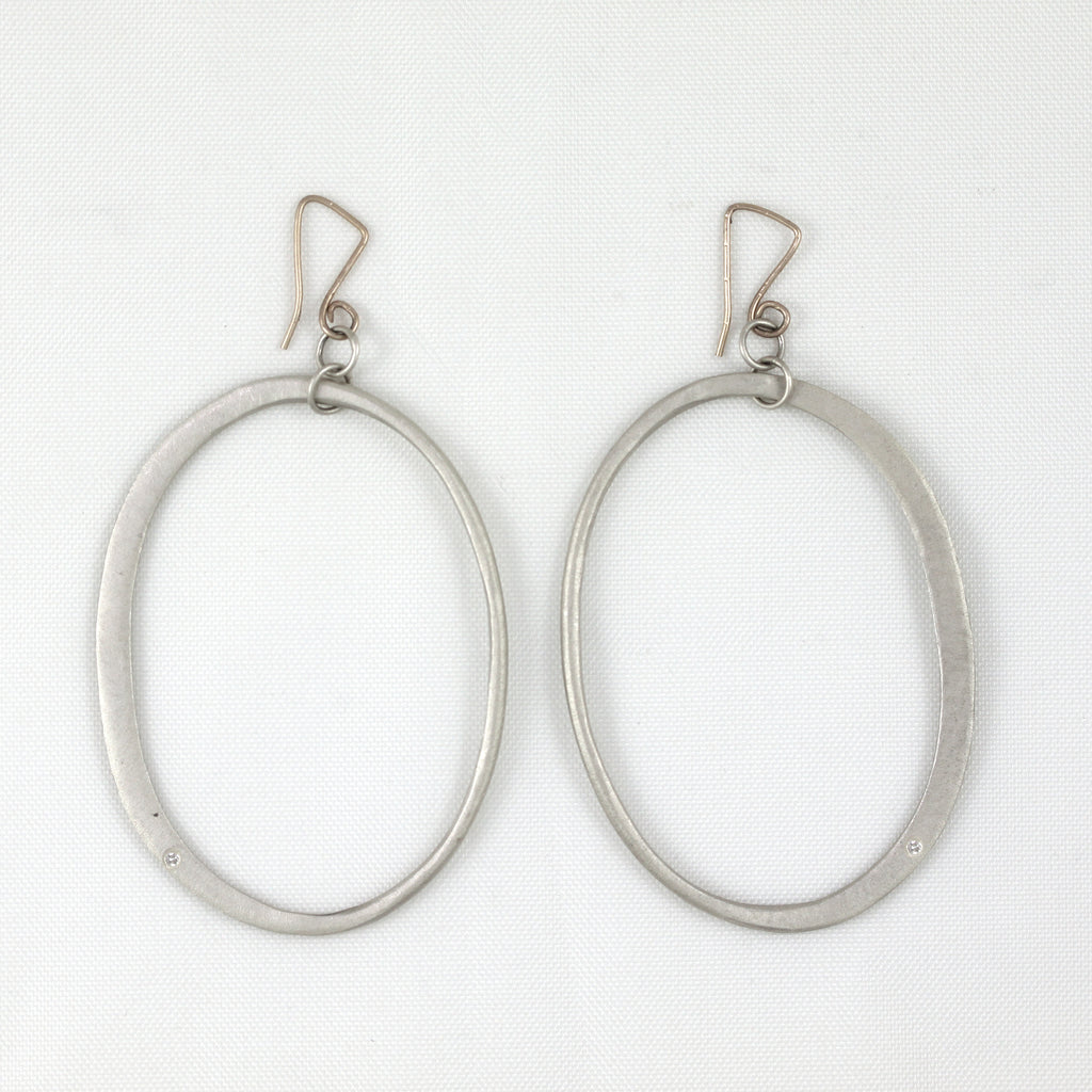 Long Diva Oval Earrings