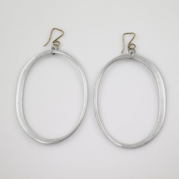 Half Turned Oval Earrings