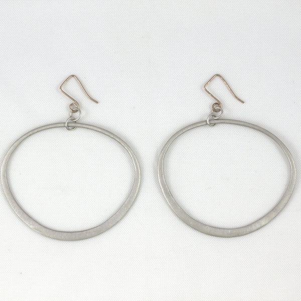 Wide Diva Oval Earrings