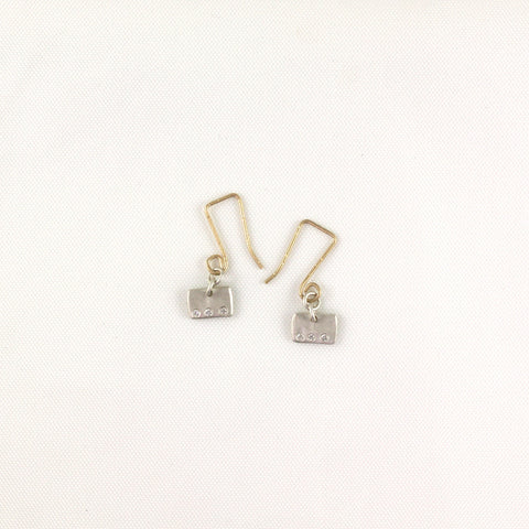 Horizontal Panel Earrings