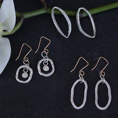 Bezel in the Round Earrings