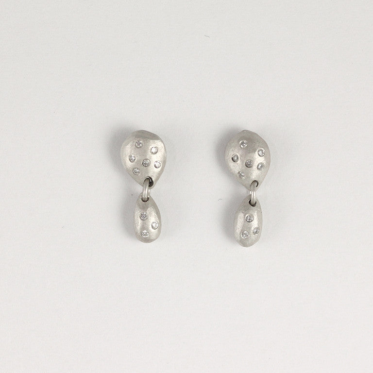 Double Sterling Silver Gemstone Earrings 18