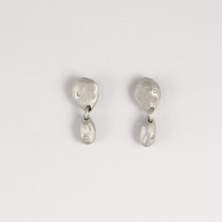 Double Sterling Silver Gemstone Earrings 4