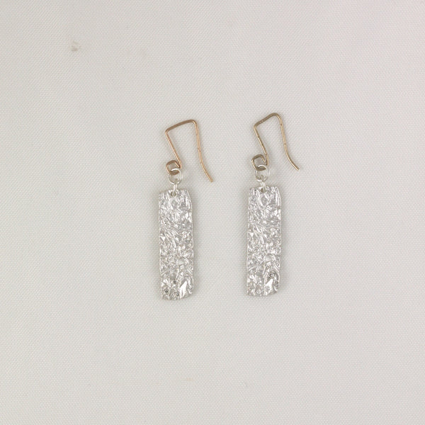 Crinkled Rectangle Earrings