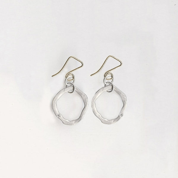 Small Flat Round Earrings