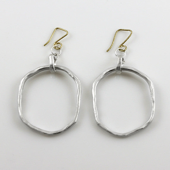 Large Chunky Skinny Round Earrings