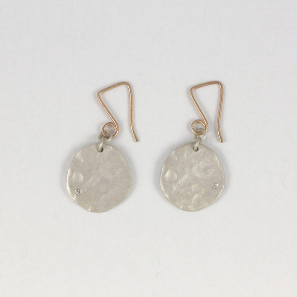 Rippled Round Earrings