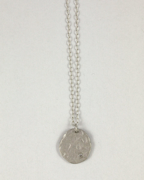 Rippled Round Necklace