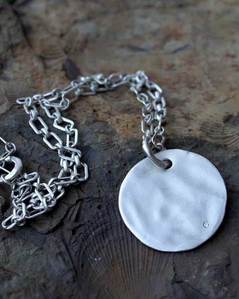 "1.25"" Solid Round Necklace with 36"" chain"