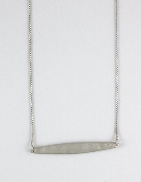 Horizontal Long Blade Necklace