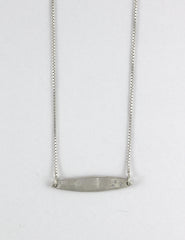 Horizontal Short Blade Necklace