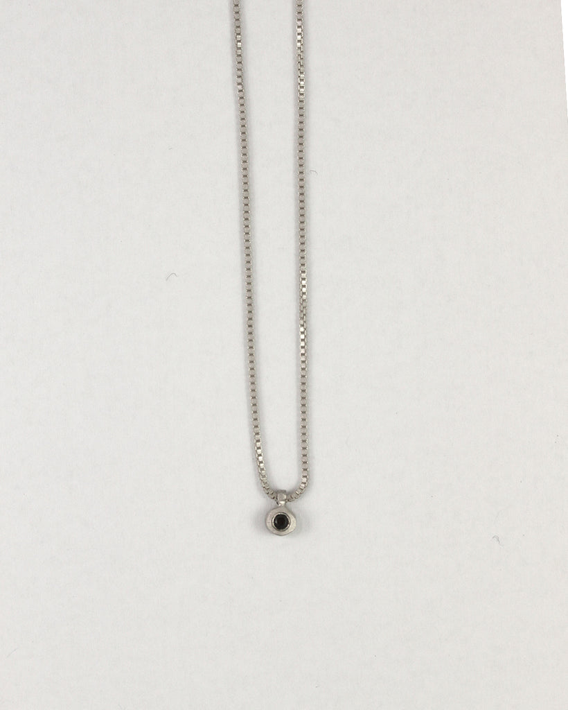 5pt Black Diamond Bezel Necklace