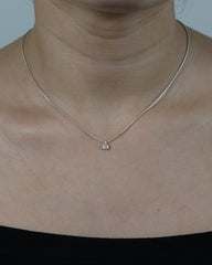 5pt Diamond Bezel Necklace