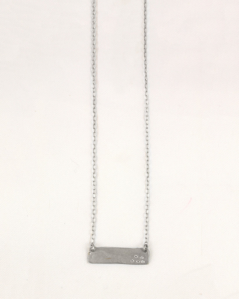 Horizontal Plank Necklace