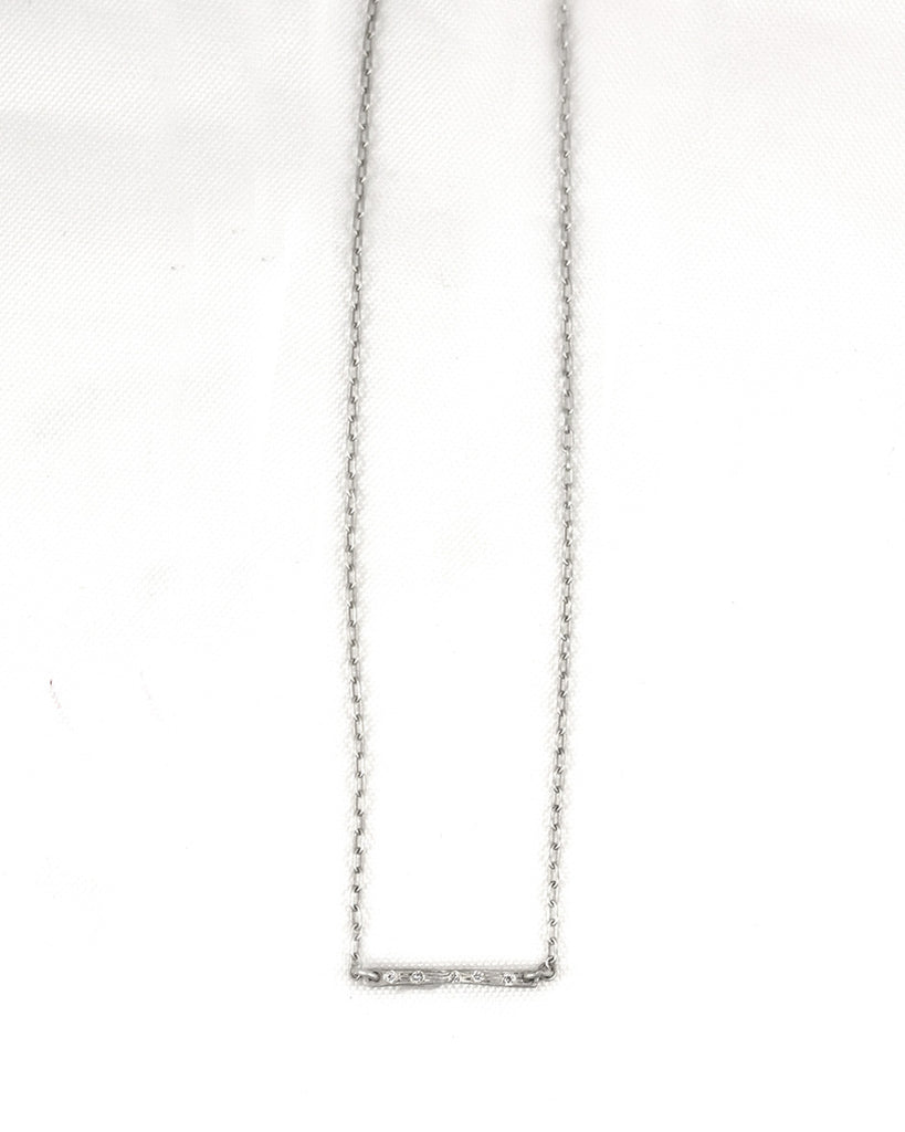 Half Horizontal Bark Stix Necklace