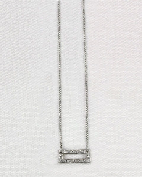 Open Rustic Rectangle Necklace