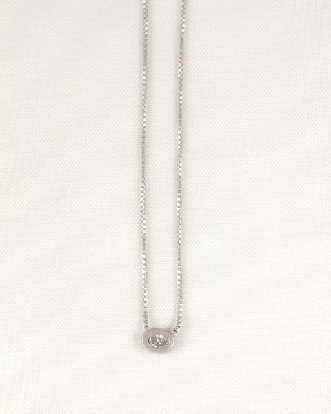 20pt Oval Diamond Necklace