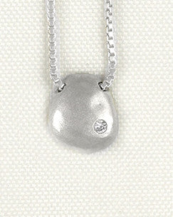Floating Medium Raindrop Necklace