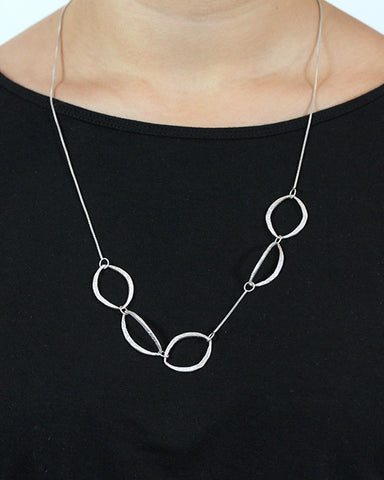 Mixed Moon Ovals Necklace