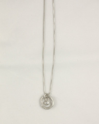 Bezel in the Round Necklace