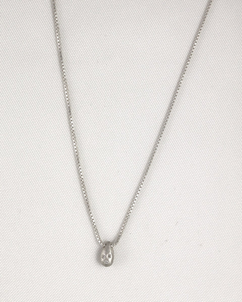 Small Sterling Silver Gemstone Necklace