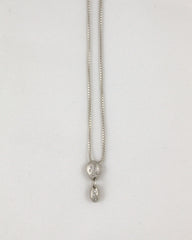 Double Sterling Silver Gemstone Necklace