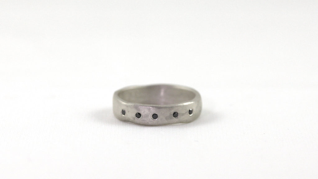 Wedding Band 5 with Black Diamonds