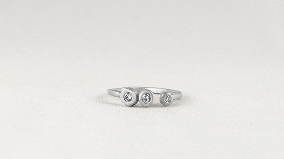 Open Bezel Trio Ring