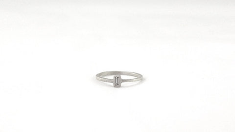 Vertical Baguette Bezel Ring
