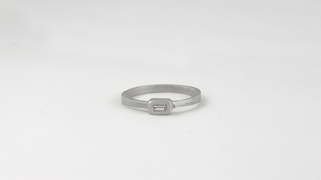 7pt Diamond Baguette Ring