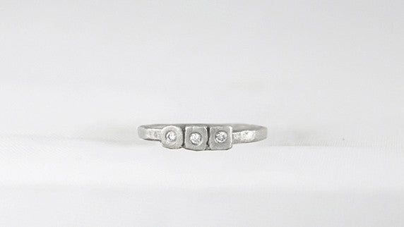 Three Tiny Bezel Ring