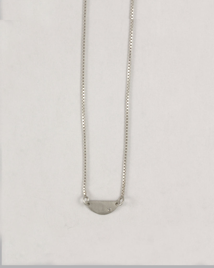 Horizontal Mini Half Circle Necklace