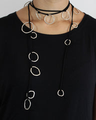 Scarf Necklace on Suede