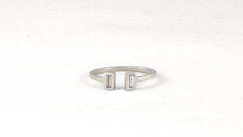 Open Baguette Bezel Ring