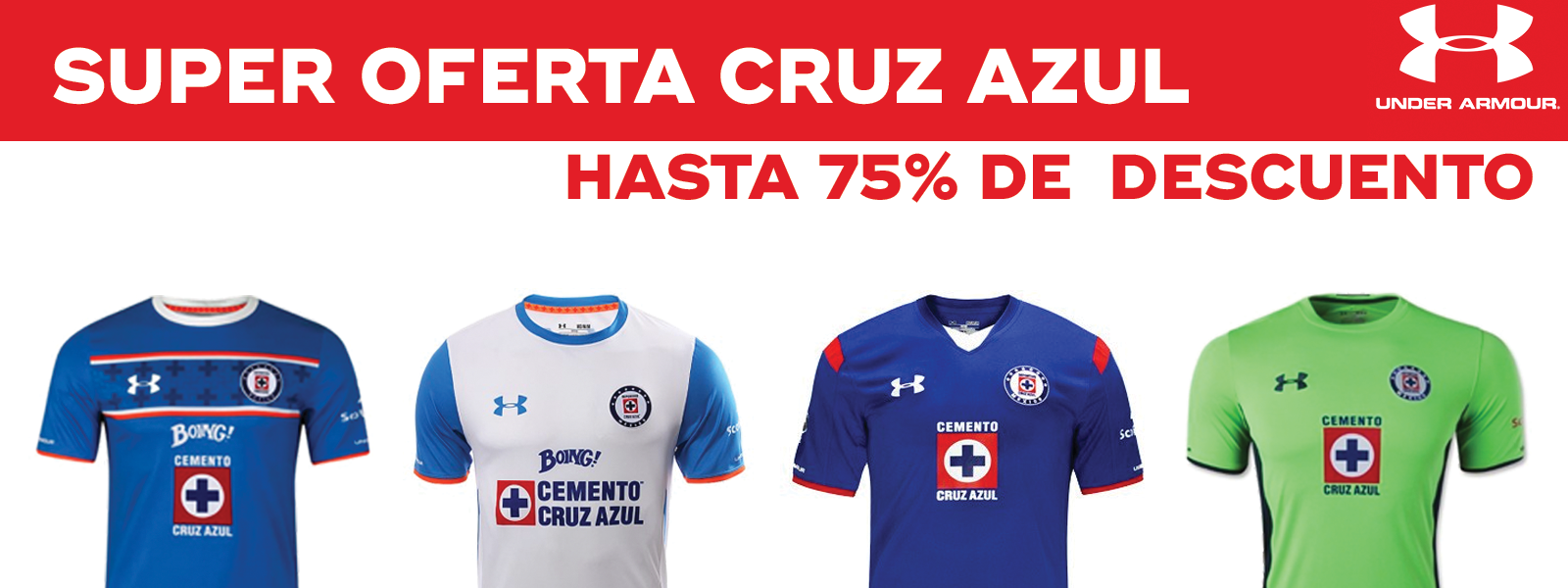 Liquidación Playeras Cruz Azul Under Armour - ChampSports.mx 7d70994bd58fe