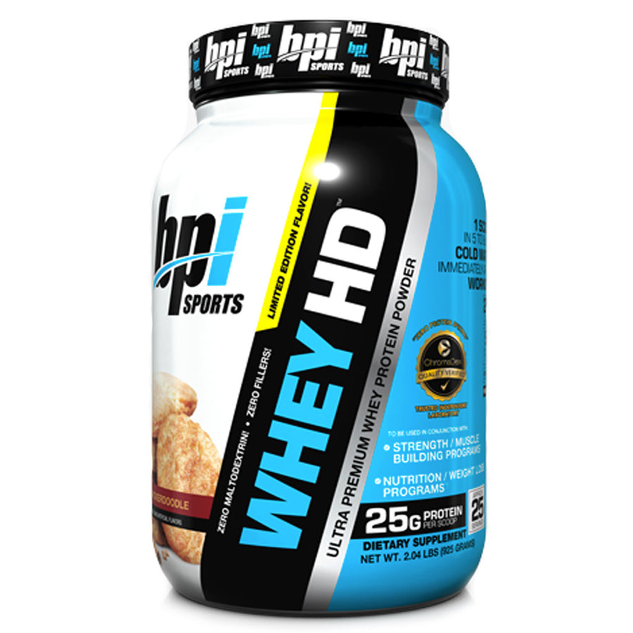 BPI Sports- Whey HD Snickerdoodle- 2 libras