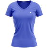 Playera Champs State Cuello V Dama Azul Royal