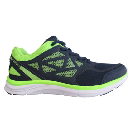 Tenis Kappa Fanger Running Hombre Blue Royal/green Acid